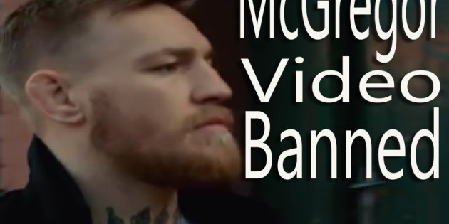 Conor McGregor Video Banned in Ireland Because of Alcohol