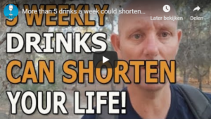 5 weekly drinks can shorten your life