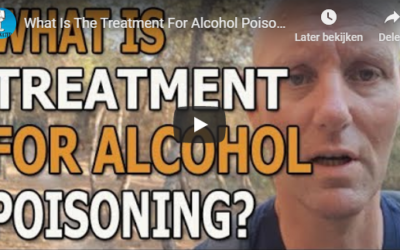 What is the treatment for alcohol poisoning?