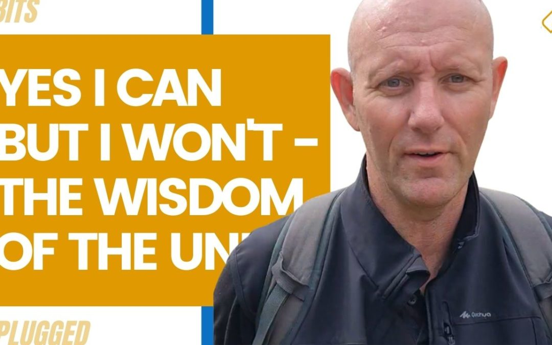 Yes I Can But I Won't – The Wisdom of the Undefeated